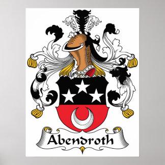 Escudo de la familia de Abendroth Posters