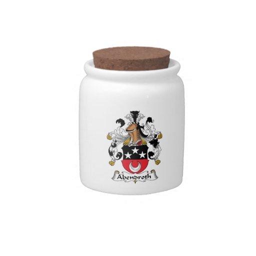 Escudo de la familia de Abendroth Tarro De Cerámica Para Dulces