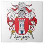 Escudo de la familia de Abengoza Teja Ceramica