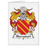Escudo de la familia de Aberasturi Tarjetas