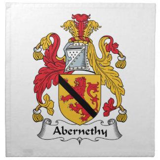 Escudo de la familia de Abernethy Servilletas Imprimidas