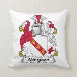 Escudo de la familia de Abingdon Almohada