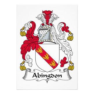 Escudo de la familia de Abingdon Invitacion Personal
