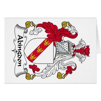 Escudo de la familia de Abingdon Tarjeta