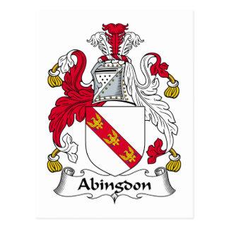 Escudo de la familia de Abingdon Tarjeta Postal