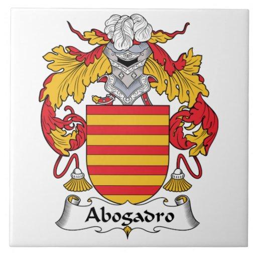 Escudo de la familia de Abogadro Azulejo Cuadrado Grande