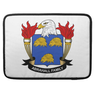 Escudo de la familia de Abrahall Fundas Macbook Pro