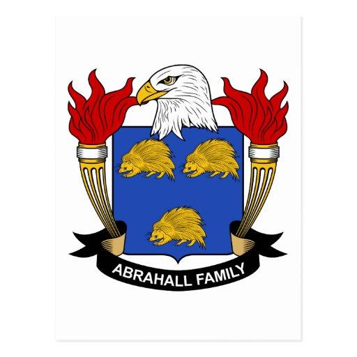 Escudo de la familia de Abrahall Postal