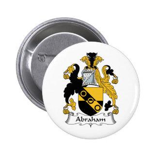 Escudo de la familia de Abraham Pin Redondo 5 Cm