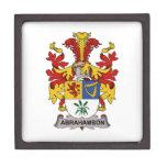 Escudo de la familia de Abrahamson Caja De Joyas De Calidad