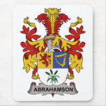 Escudo de la familia de Abrahamson Tapetes De Ratones