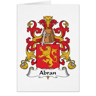 Escudo de la familia de Abran Tarjeta De Felicitación