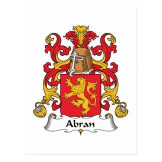Escudo de la familia de Abran Postales