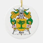 Escudo de la familia de Abri Ornamentos Para Reyes Magos
