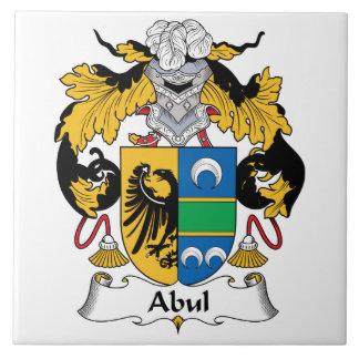 Escudo de la familia de Abul Azulejo Cuadrado Grande