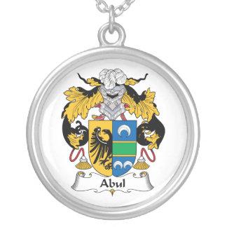 Escudo de la familia de Abul Colgante Redondo