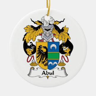 Escudo de la familia de Abul Adorno Redondo De Cerámica