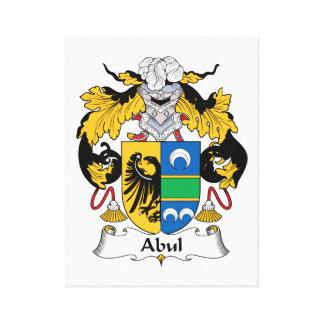 Escudo de la familia de Abul Impresión En Tela