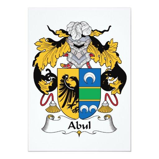 Escudo de la familia de Abul Invitación 12,7 X 17,8 Cm