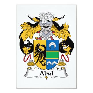 """Escudo de la familia de Abul Invitación 5"""" X 7"""""""