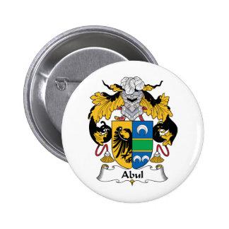 Escudo de la familia de Abul Pin Redondo 5 Cm