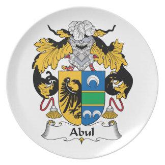 Escudo de la familia de Abul Plato Para Fiesta