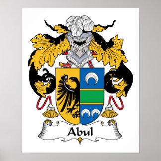 Escudo de la familia de Abul Póster