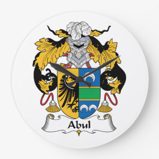 Escudo de la familia de Abul Reloj Redondo Grande