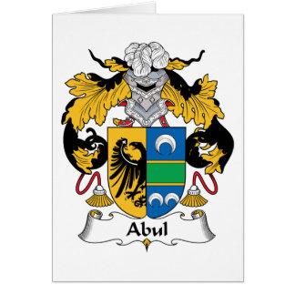 Escudo de la familia de Abul Tarjeta De Felicitación