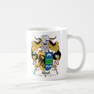Escudo de la familia de Abul Taza Básica Blanca