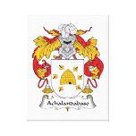 Escudo de la familia de Achalandabaso Lona Estirada Galerias