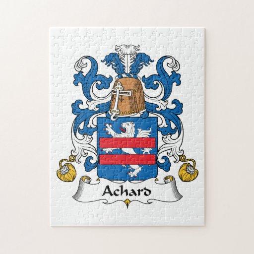 Escudo de la familia de Achard Rompecabeza Con Fotos