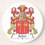 Escudo de la familia de Acher Posavasos Para Bebidas