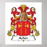 Escudo de la familia de Acher Poster