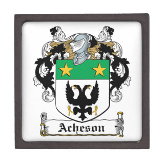 Escudo de la familia de Acheson Cajas De Regalo De Calidad