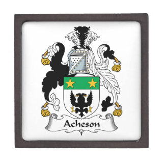 Escudo de la familia de Acheson Caja De Regalo De Calidad