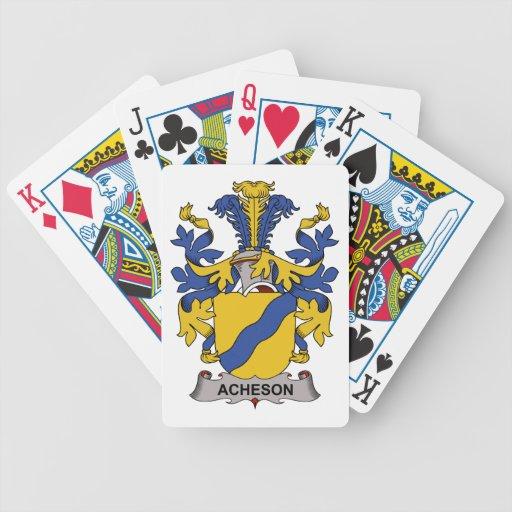 Escudo de la familia de Acheson Baraja Cartas De Poker