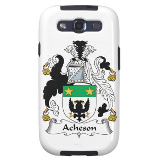 Escudo de la familia de Acheson Galaxy SIII Protectores