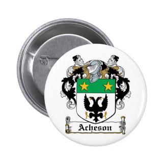 Escudo de la familia de Acheson Pin Redondo 5 Cm