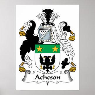 Escudo de la familia de Acheson Póster