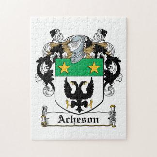 Escudo de la familia de Acheson Rompecabeza Con Fotos