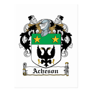 Escudo de la familia de Acheson Tarjetas Postales