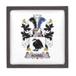 Escudo de la familia de Achsel Cajas De Regalo De Calidad