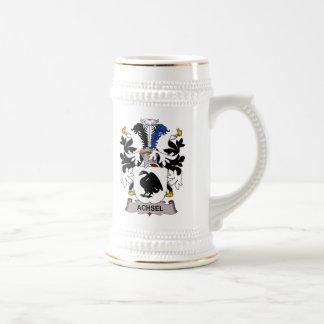 Escudo de la familia de Achsel Tazas De Café