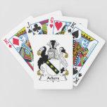 Escudo de la familia de Ackers Baraja Cartas De Poker
