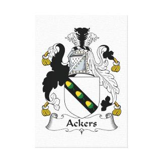 Escudo de la familia de Ackers Lienzo Envuelto Para Galerías