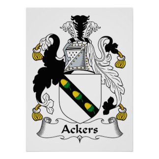Escudo de la familia de Ackers Póster
