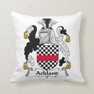 Escudo de la familia de Ackland Almohada