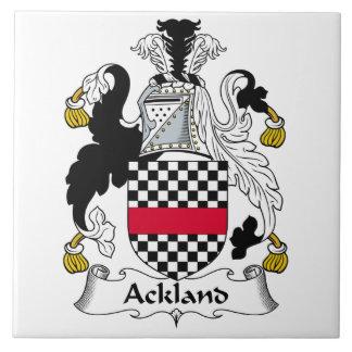 Escudo de la familia de Ackland Azulejo Cuadrado Grande
