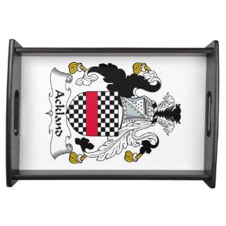 Escudo de la familia de Ackland Bandejas